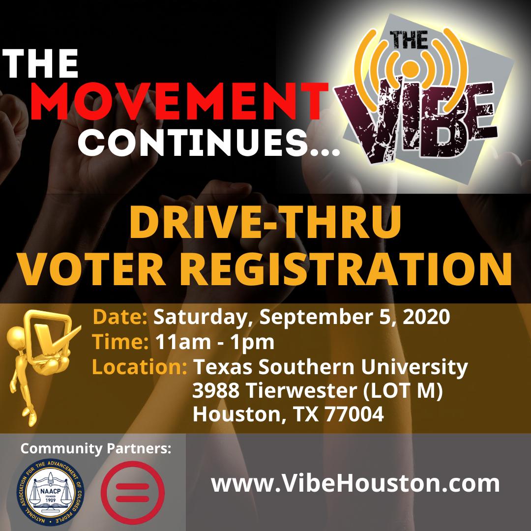 Drive Thru Voter Registration